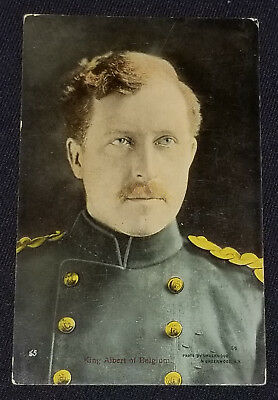 Vintage - King Albert Of Belgium - Postcard