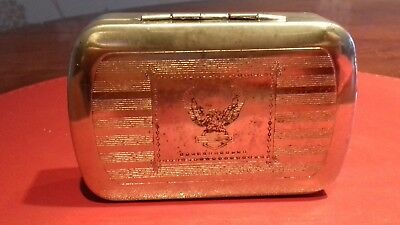 Old metal box with eagle ALC