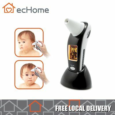 ecHome Digital Infrared Ear Thermometer LCD English Reading Medical Memory