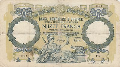 Albanien 20 Franga ND1945 - Woman with sceptre, two-headed eagle - Serial P9