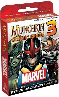 Munchkin Marvel Cosmic Chaos | USAopoly - New Game