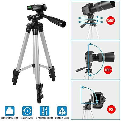 41'' Universal Superior Control Camera Tripod, 3 Way Pan Head, Bubble Level