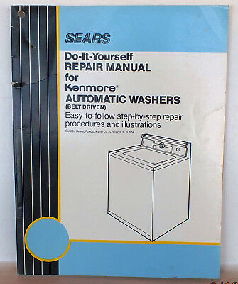 Vintage retro 1960s sears kenmore automatic washer owners manual sears kenmore do it yourself automatic washers service manual solutioingenieria Image collections