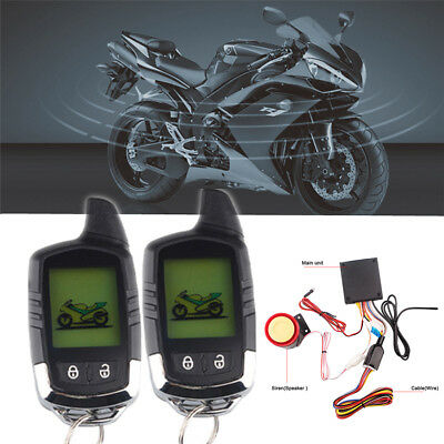 LCD Anti-theft Motorcycle Alarm System Remote Engine Start Security Kit Scooter