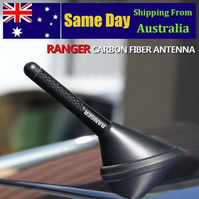 Black Carbon Aerial Stubby Antenna With LOGO For FORD RANGER PX 2011+