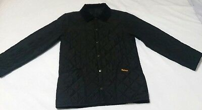 Barbour Eskdale Jacket Sz XS Black Diamond Quilted Polyfill Coat Mens