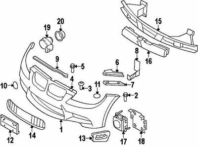 TOW FITTING REA#9 On Picture BMW 51-12-8-056-540TRIM COVER