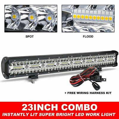 "23INCH CREE LED Light Bar TRI Row Combo Beam Work Driving Offroad 4WD 22"" + Wire"