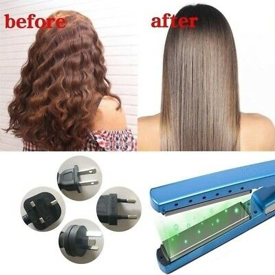 Professional Irons Hair Dry and wet Nano Titanium Plates Hair Straightener box