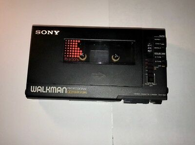 Sony WM-D6C PROFESSIONAL Walkman stereo cassette and Sony ECM-909 microphone.
