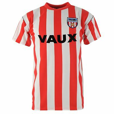 Score Draw Hommes Maillots Rétro Manches Courtes Sunderland Football Club 1990