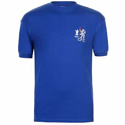 Score Draw Hommes Maillots Rétro Col Rond Manches Courtes Chelsea Football Club