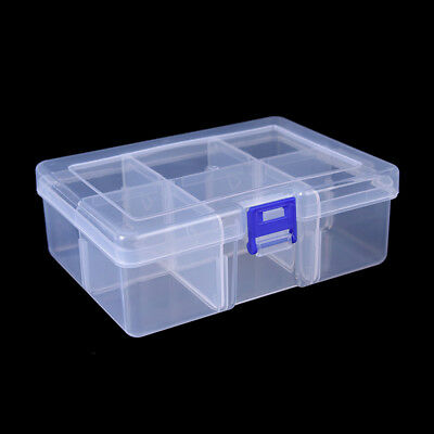 Big 6 Compartments Fishing Lure Tackle Hook Bait Storage Box Container Case XG