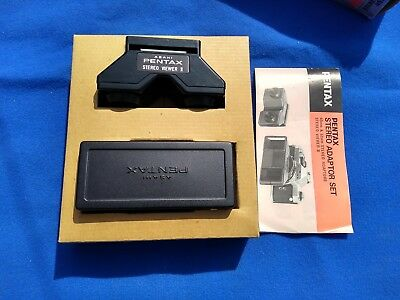 Boxed Pentax Stereo Adapter 49 mm Set & Stereo Viewer II + Instructions