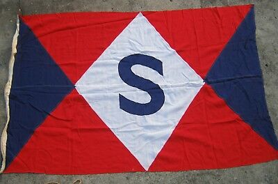 LARGE EARLY MAST HEAD SIGNAL FLAG 180cm x 120cm from Container Ship