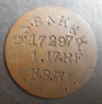 WWI Dog tags   on GB  1912 Penny