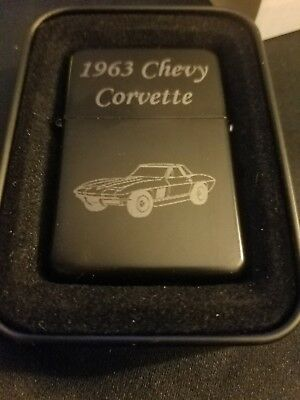 ZIPPO 1963 CORVETTE STING RAY Lighter. NEW.  No scratches