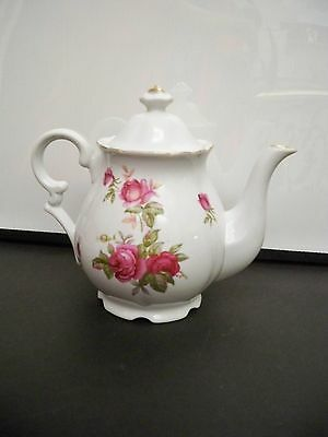 Lefton China Teapot Porcelain Japan Rose Design 0927