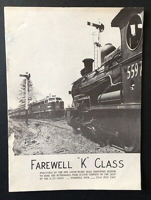 Six Page Booklet - Farewell K Class - July 23 1967