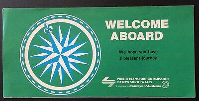 Foldout Welcome Aboard - Public Transport Commission of NSW - 1978