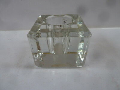 Vintage Glass Ink Pot. Inkwell, Lid missing, Made in England.