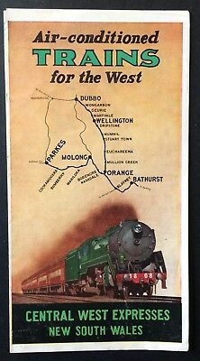 Foldout - Air Conditioned Trains For the West - Central West Expresses NSW