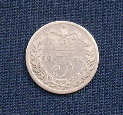 William IV Silver Threepence (3d) Coin - 1835