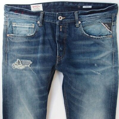 BRAND NEW MENS Replay Grover Men s Jeans W 32 L 32 RRP £95 Straight ... 93737b3c4c