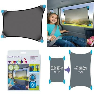 New Munchkin Strech to Fit Car Sun Shade for Baby/Tod Travel Safety RRP £19.99