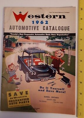 "Rare Canadian ""1962 Western Tire And Auto Supply"" Automotive Catalogue-Rxcellent"