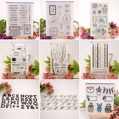 Silicone Clear Stamp Transparent Rubber Stamps DIY Scrapbook Alphabet Craft Gift