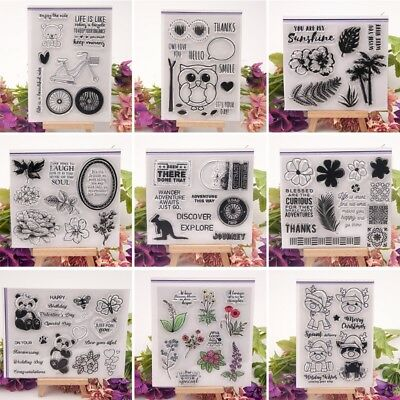 Transparent Clear Silicone Stamp Seal DIY Scrapbooking Card Craft Decor Gift