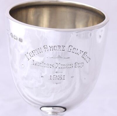 Silver Golfing Trophy Cup. North Shore Golf Club Blackpool Ladies Xmas Cup 1931