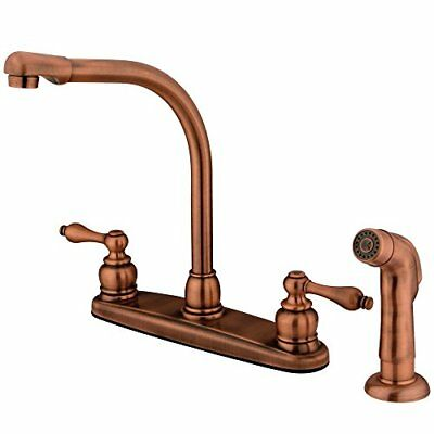 Kingston Brass Victorian High Arch Kitchen Faucet With Non-Metallic Sprayer