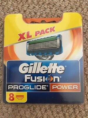 XL Pack Gillette Fusion Proglide Power 8