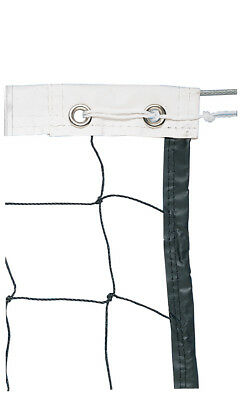 Vinyl Volleyball Net w/ Steel Cable Top & Nylon Roped Bottom