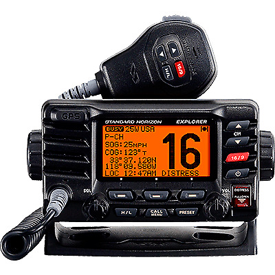 VHF, Explorer GPS, Opt. Remote, Black