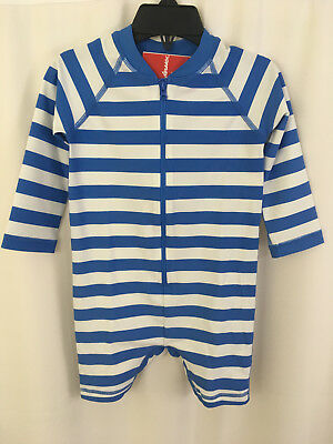 Hanna Andersson Baby Rash Guard Suit Swimmy Navy Stripe Size 85 2 NWT