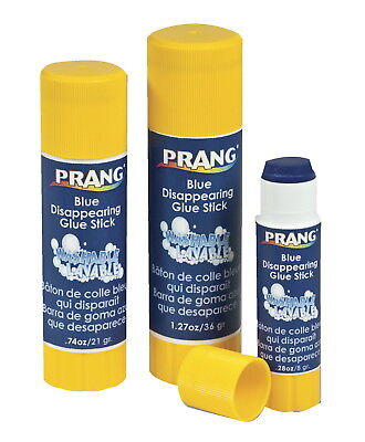 Prang Non-Toxic Odorless Washable Glue Stick, 0.74 oz, Blue and Dries Clear