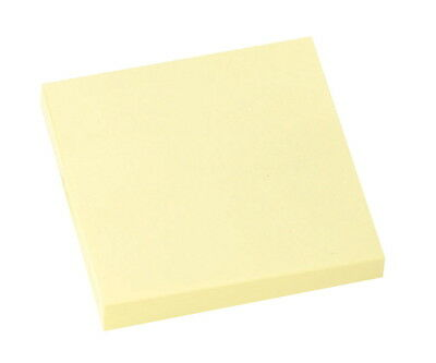 School Smart Removable Self-Stick Note, 3 X 3 in, Yellow, 100 Sheets/Pad, Pac...