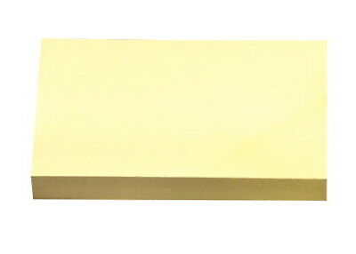 School Smart Removable Self-Stick Note, 3 X 5 in, Yellow, 100 Sheet Pads, Pac...