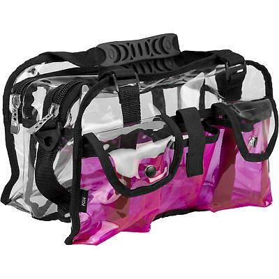 CASEMETIC Pink Clear Set Bag Double Storage Compartment 3 External Pockets an...