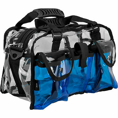 CASEMETIC Blue Clear Set Bag Double Storage Compartment 3 External Pockets an...