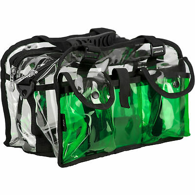 CASEMETIC Green Clear Set Bag Double Storage Compartment 3 External Pockets a...