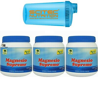 Magnesio Supremo NATURAL POINT 3 X 300 gr 900 Mag Citrato y Carbonato de calcio+