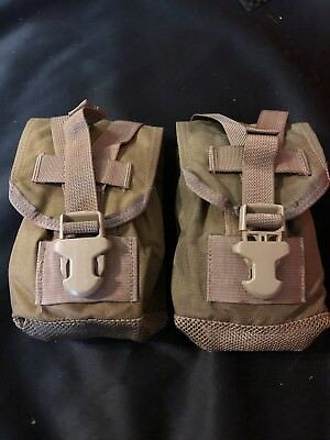 Lot Of 2 Eagle Ind. USMC Coyote Brown MOLLE 1 Qt. Canteen Pouch! NEW!!