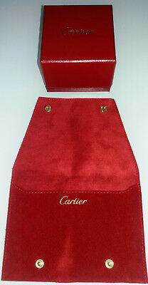 Cartier box scatola case original jewellery con sacca / fodero in pelle cartier