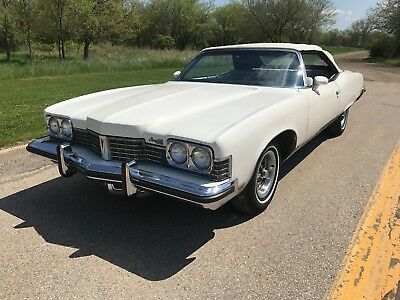 1973 Pontiac Grand Ville -- 1973 Pontiac Grand Ville  60912 Miles White Convertible 455 V8 3-Speed Automatic