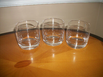 Woodford Reserve Kentucky Whiskey Glass Tumbler Set Of 3 Excellent condition