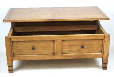 Vintage Large Oak Chest Coffee Table - FREE Shipping [PL4470]